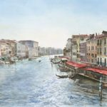Venice Art Gallery – Grand Canal In Sunlight – Watercolour Painting Fine Art Prints