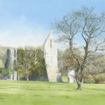 Newark Priory Ripley – Surrey Art Gallery – Watercolour Painting By Woking Artist David Drury – Fine Art Prints For Sale