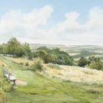Newlands Corner Views -Albury Downs Guildford Beauty Spot – Surrey Art Gallery – Watercolour Painting By Woking Artist David Drury – Fine Art Prints For Sale