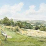 Newlands Corner Views -Albury Downs Guildford Beauty Spot – Surrey Art Gallery – Watercolour Painting By Woking Artist David Drury – Fine Art Prints For Sale