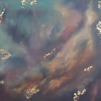 Nebula 1 – Space Art Gallery – Painting by Cranleigh Surrey Artist Kathy Plank