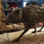 Wolf Sculpture Commission – Cranleigh Surrey Artist Kathy Plank