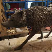 Wolf Sculpture Commission – Cranleigh Surrey Artist Kathy Plank