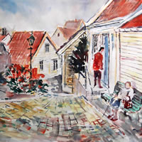 City & Town Art Gallery – Stavanger Norway Visit – Watercolour Painting