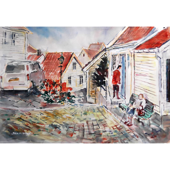 City & Town Art Gallery - Stavanger Norway Visit - Watercolour Painting