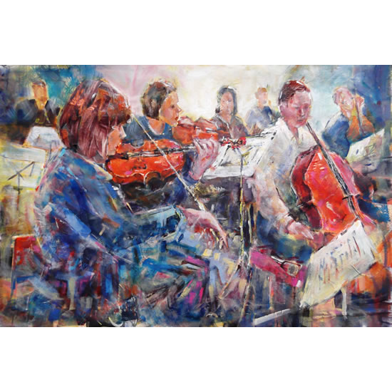 Classical Music Art Gallery - Orchestra String Section Painting & Prints