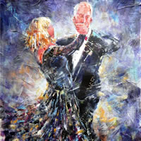 Ballroom Dancing Painting – Tango – Surrey Dance Art Gallery