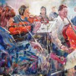 Classical Music Art Gallery – Orchestra String Section Painting & Prints