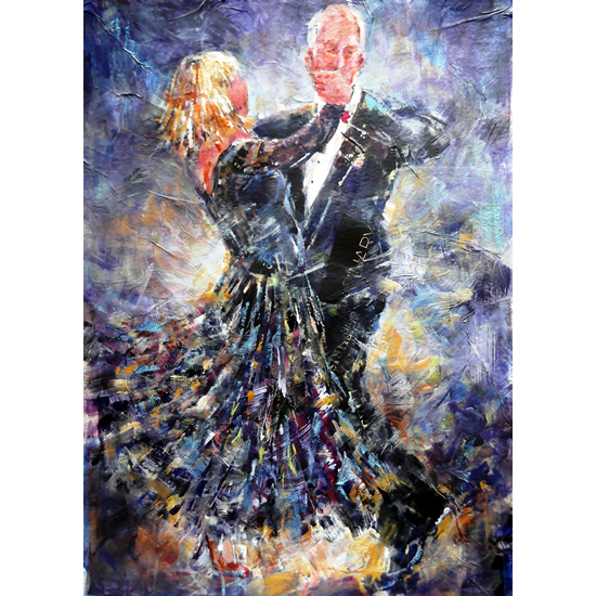 Tango - Ballroom Dancing Painting - Dance Art Gallery of Woking Surrey Artist Sera Knight