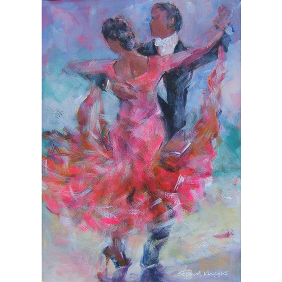 Ballroom Dancing Competition - Foxtrot Or Waltz- Art Prints Of Painting Commission Available Online