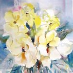 Flowers-Yellow-Wild-Roses-Painting-Woking-Art-Gallery