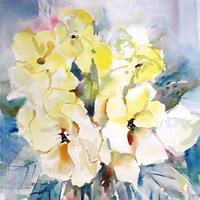 Flowers-Yellow-Wild-Roses-Painting-Woking-Art-Gallery