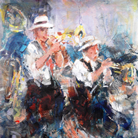Jazz Musicians In Concert Liven It Up Art Prints