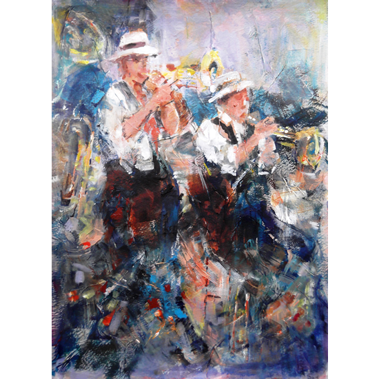 Jazz Musicians In Concert - Let's Liven It Up! - Music Art Gallery - Prints Of Painting Available Online