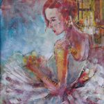 Ballet Dancer Art Prints Ballerina Waiting To Dance