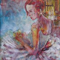 Ballet Dancer Art Prints Ballerina Waiting To Dance