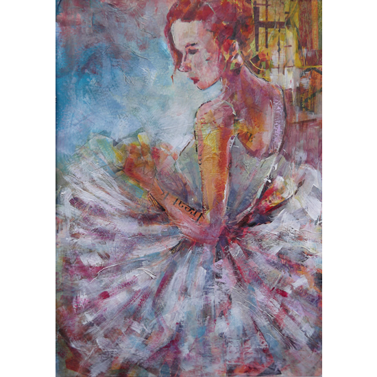 Ballet Dancer - Art Prints & Gifts Available Online - Painting Of Ballerina Waiting To Dance - Ballet Art Gallery