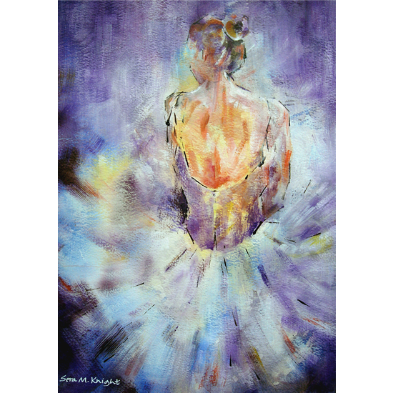 Ballet Art Gallery - Painting Of Ballerina Resting - Framed Unframed & Canvas Prints Of Painting Available Online