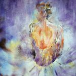 Ballet Art Gallery Painting Of Ballerina Resting