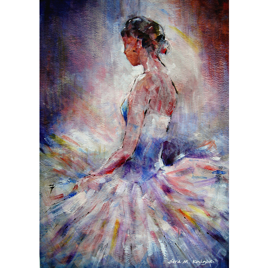 Ballet Art Gallery - Prints & Gifts of Painting of Ballerina Contemplating - Framed & Unframed Prints Available