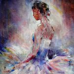 Ballet Art Gallery Prints Gifts Painting Of Ballerina Contemplating