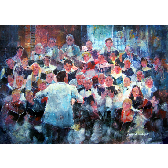 Choir In Concert - Music Art Gallery - Elmbridge Surrey England Choral Group - Art Prints Of Painting Available Online