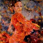 Flamenco Dancer Orange Painting Dance Art Gallery