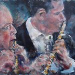 Flutes Wind Section Of Orchestra Classical Music Art Gallery Painting