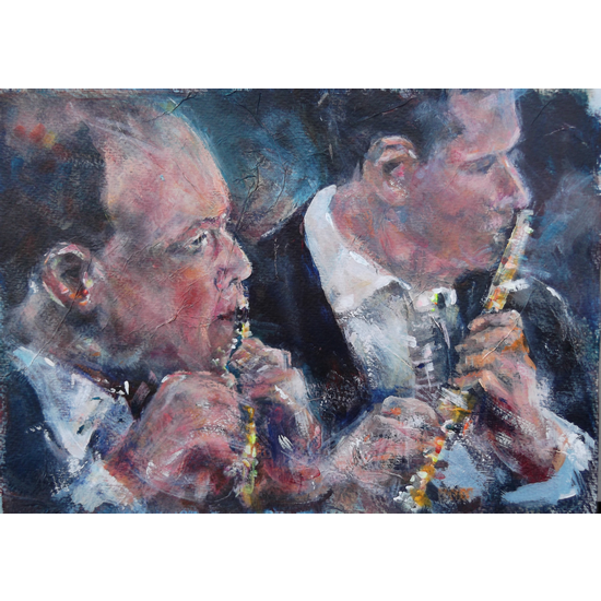 Flutes - Wind Section Of Orchestra - Classical Music Art Gallery - Prints & Printed Products Of Painting Available Online