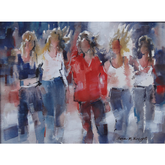 Girls - Best Friends - Woking Surrey Artists Gallery - Art Prints Of Painting Available Online