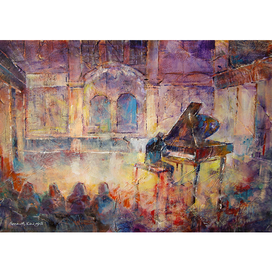 Piano Recital - Classical Music Painting - Pianist at Concert Hall - Art Prints Of Painting Commission Available Online