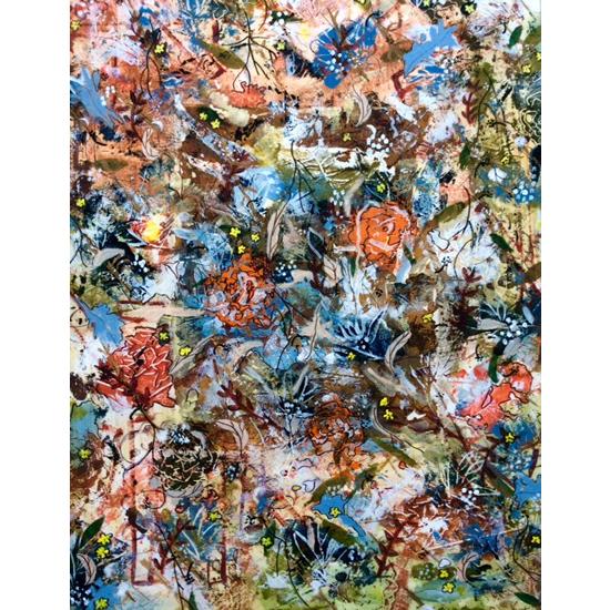 Autumn Flowers Painting - Four Seasons Collection Fall - Art Prints - Hampton London Artist Jennifer Brown