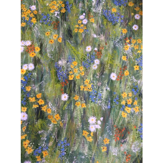 Spring Flowers Painting - Four Seasons Collection - Art Prints - Hampton London Artist Jennifer Brown
