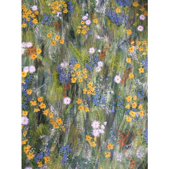Spring Flowers Painting - Four Seasons Collection - Art Prints - Hampton London Artist Jennifer Brown