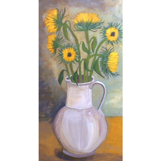 Sunflowers - Art Prints Of Painting Available Online - Flower Paintings By Hampton London Artist Jennifer Brown on Surrey Artists Website