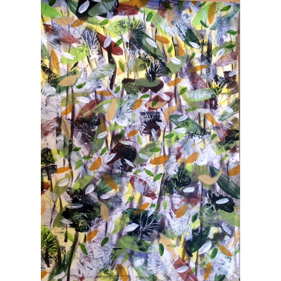 Winter Flowers Painting - Four Seasons Collection - Art Prints - Hampton London Artist Jennifer Brown