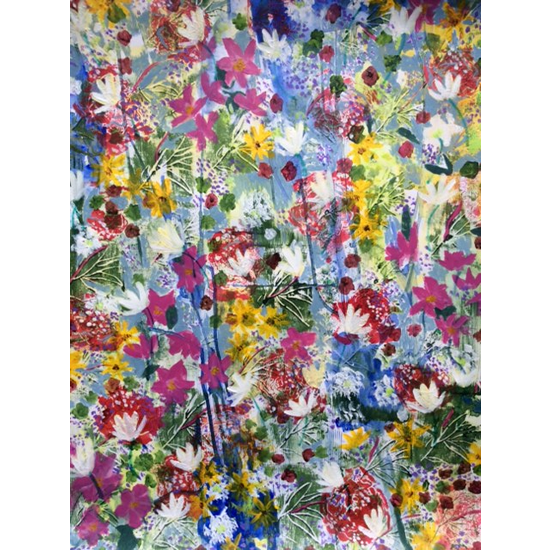 Summer Flowers Painting - Four Seasons Collection - Art Prints - Hampton London Artist Jennifer Brown