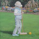 Croquet Child Playing – Fine Art Print – Chessington Surrey Artist