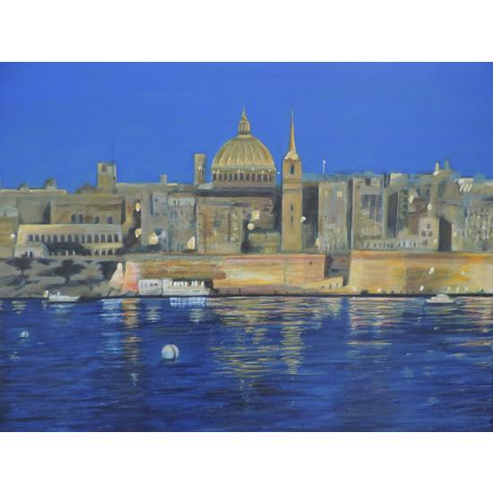 Valletta Malta  Painting By Chessington Art Group Member Margaret Russell