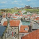 Whitby Abbey North Yorkshire View – Acrylic Painting By Chessington Art Group Member Margaret Russell