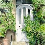 White Door – Surrey Art Gallery – Watercolour Painting By Woking Artist David Drury – Fine Art Prints For Sale