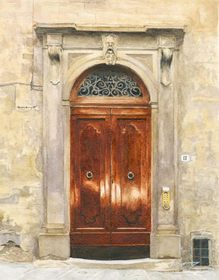 Porto di Firenze - Florence Building Door - Italy Art Gallery - Fine Art Prints For Sale