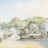 Dunster Village Exmoor – David Drury Surrey Artist