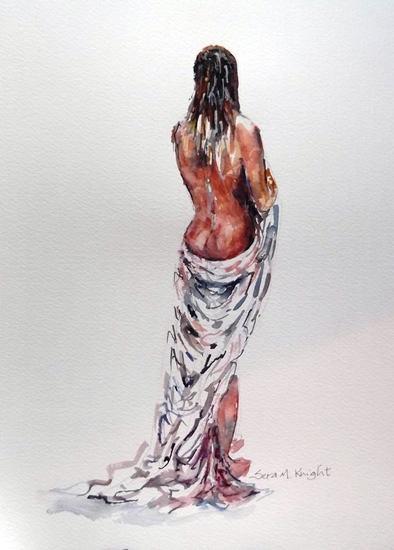Nudes Art Gallery - Nude Woman Standing - Prints Of Painting Available