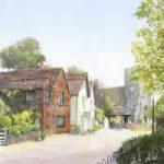 St Peters Church Old Woking – Surrey Scenes Art Gallery – Fine Art Prints Of Painting By Artist David Drury