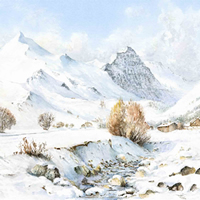 Val-d'Isère-Alpine-Painting-Mountains-Snow-Art-Gallery