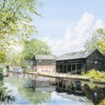 Wey Navigation Art Gallery – Byfleet – Parvis Wharf – Prints Of Watercolour Painting