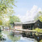 Wey Navigation Art Gallery – Byfleet – Parvis Wharf – Prints Of Watercolour Painting