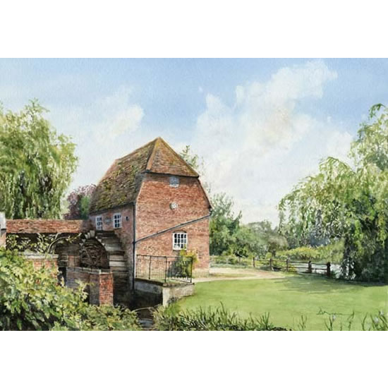 Cobham Mill Elmbridge - Surrey Scenes Art Gallery - Fine Art Prints For Sale