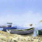 Fishing Boats – Mediterranean Art Gallery – Fine Art Prints Of Painting By Woking Surrey Artist David Drury
